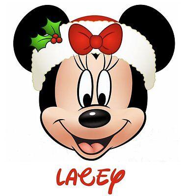 DISNEY**MICKEY**MINNIE MOUSE CHRISTMAS***PERSONALIZED SHIRT IRON ON TRANSFER](Disney Christmas Shirts Personalized)
