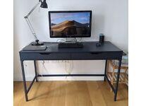 Desk with drawers dark blue Alex Ikea