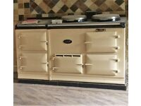 Classic 4-oven gas-fired Aga, cream, regularly serviced, good condition