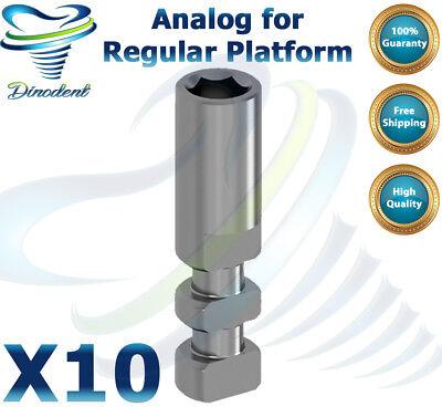 X10 Analog For Regular Platform Ø 3.3 / 3.75 / 4.2 for dental implant lab 2.42