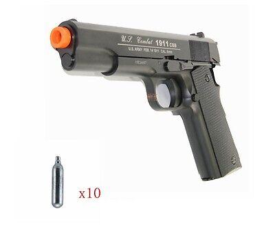 Airsoft Gas CO2 Blowback WG 1911 Pistol Magazine Full Metal With x10 CO2 (1911 Airsoft Gas Blowback Pistol)