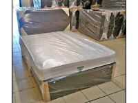 💛💛CLEARANCE EVERYTHING💛💛NEW DOUBLE DIVAN BED BASE INCLUDING MATTRESS (Headboard Optional)