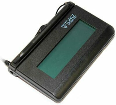 Topaz T-l462-b-r Lcd 1x5 Signature Capture Pad - Serial Connection Not Usb