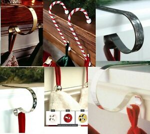 Original-CHRISTMAS-STOCKING-HOLDERS-hanger-hook-support-Mantle-Mantel-clips-xmas