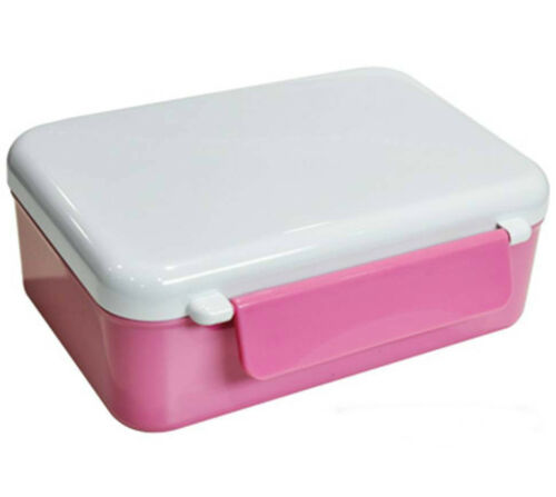 Sublimation Pink Plastic Lunch Box
