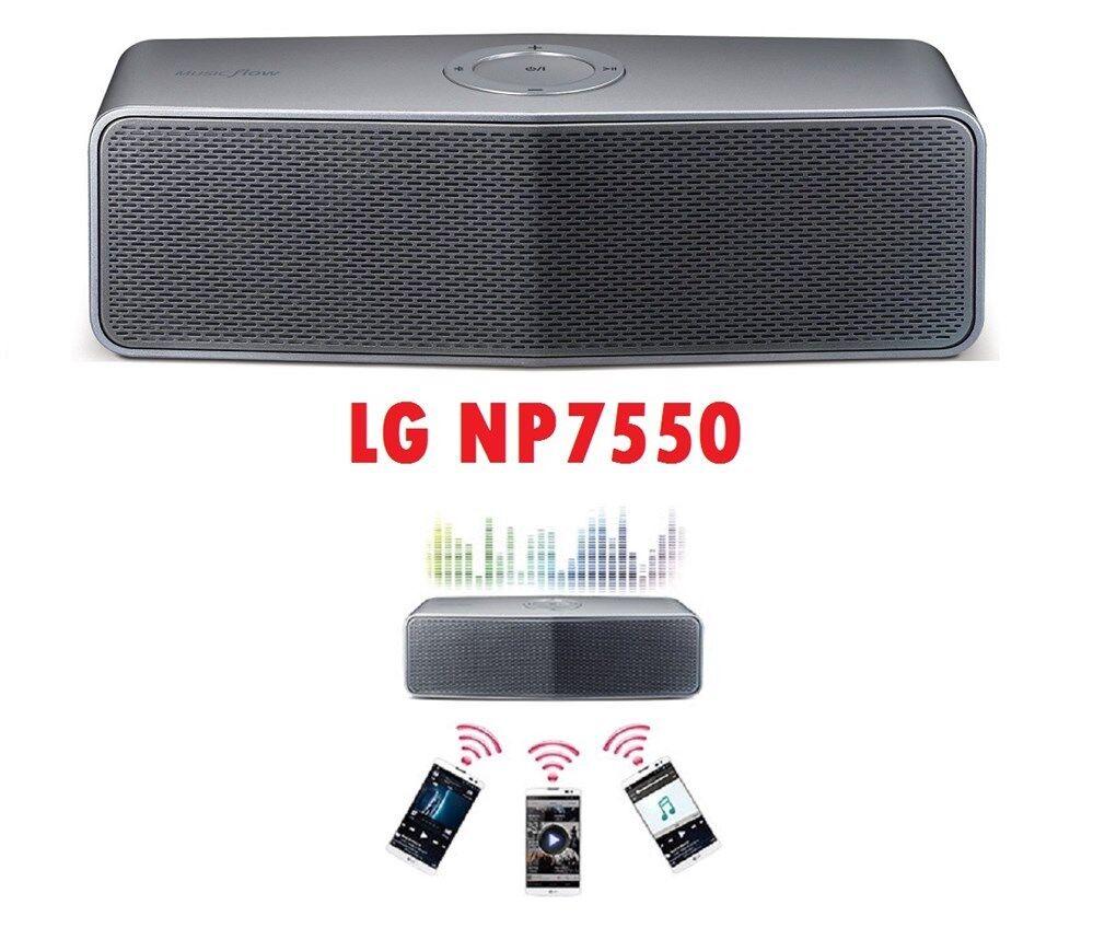 Lg Portable Bluetooth Speaker Np7550: LG NP7550 Music Flow P7 Portable Speaker 20 Watts 2.0 CH, Bluetooth & Built Batt