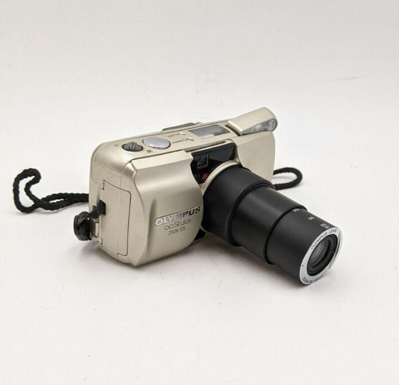 Olympus Infinity Stylus Zoom 105 35mm Point & Shoot Film Camera Japan