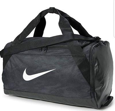0f9bb40f7a0 Nike Brasilia Size SMALL Duffel Bag Gym Travel BA5433 010 Black Gray White  NWT
