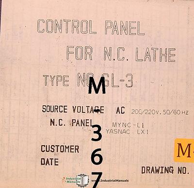 Mori Seiki Sl-3 Lathe Ac Magnetics Electrical Parts And Diagram Manual 1983