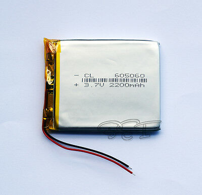 3.7V 2200 mAh Li-polymer Rechargeable Battery 605060 for MP3 GPS reading machine
