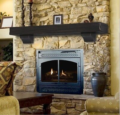 Pearl Mantel Shenandoah rustic fireplace mantel shelf. Pick size, (Fireplace Mantel Shelf)