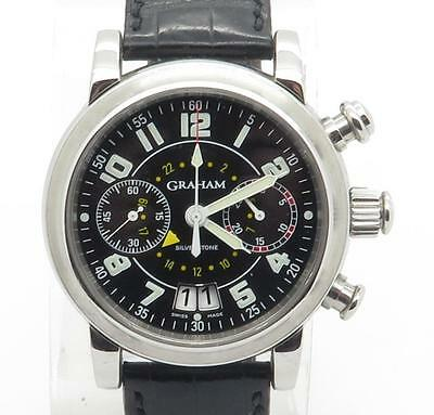 Graham SilverStone Chronograph Big Date Steel Automatic Mens Watch $12,000 MSRP