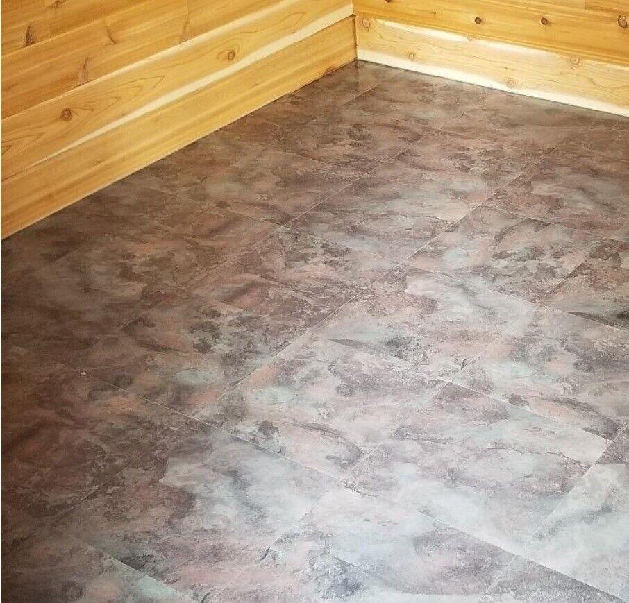 Vinyl Floor Tiles Self Adhesive Peel And Stick Stone Bath Kitchen Flooring 12x12