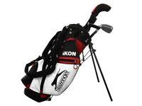 Slazenger Ikon Junior Golf Set Right Handed Driver Irons Putter Bag 6-8 Years NEW