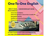 One-to-One English in London This Summer