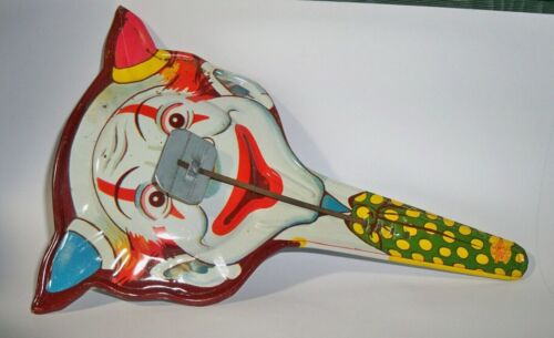 Vintage  Clown Clapper US Metal Toy Mfg Co. Noise Makers New Year Halloween