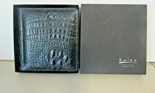 Raika Alligator Textured Embossed Green Luxury Leather Photo Album