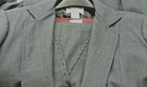 Reed Hill Saddleseat Ld 3p suit Navy Plaid Wool  Blend size 14 - MADE IN USA