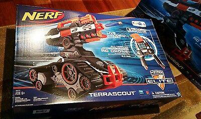 NERF N-Strike Elite Terrascout R/C Remote Control Drone Blaster NEW SEALED!