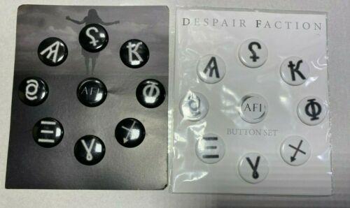 AFI 18 pin  despair faction  9 BLACK 9 WHITE SET OFFICIAL MERCHANDISE NEW