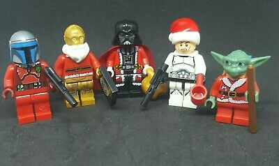 Custom Lego Star Wars Advent Calender Christmas Minifigure Set Of 5