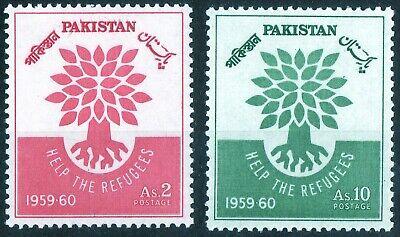 Pakistan 1960 QEII World Refugee Year set of mint stamps LMM