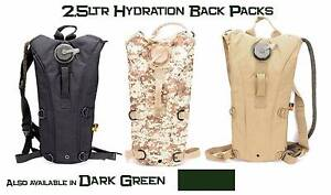 Brand NEW 2.5lt Tactical Hydration Backpacks in 4 colours Brightview Somerset Area Preview