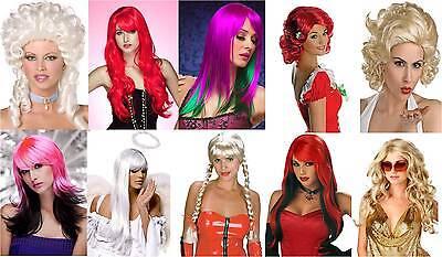 rneval Perücken Locken Marilyn Baroness Heidi bunt blond rot  (Rote Perücken)
