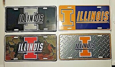 New University of Illinois Fighting Illini Logo Car Truck License Plate Auto Tag
