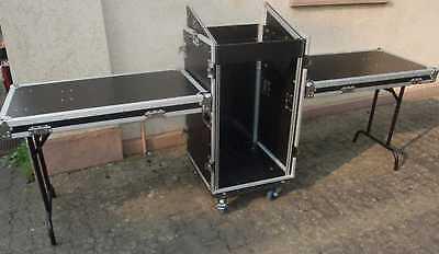 18/10 HE Spezial Stage Case TD-3, rollbar mit 2 Tischen DJ Kombi Work Station