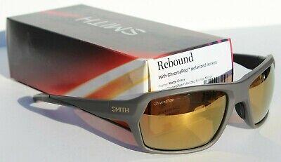 SMITH OPTICS Rebound POLARIZED Sunglasses ChromaPop Matte Gravy/Bronze (Smiths Sunglasses)