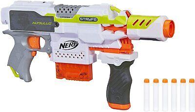 NERF Modulus Motorized Toy Blaster Gun Drop Grip Barrel Extension 6-Dart Clip
