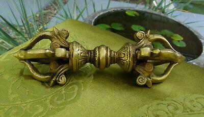 Very Beautiful Fine and Massive Brass Vajra/Dorje from Nepal 15,5 cm, 300gr