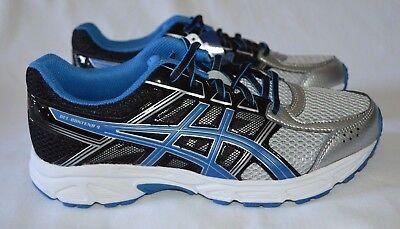 Asics Kids Gel Contend 4 Gs Running Shoe Silver Classic Blue Black Size 6