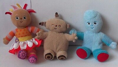 Collection Of 3 In The Night Garden Plush Soft Toy Figure Iggle Daisy Makka Doll