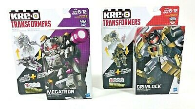 Lot of 2 KRE-O Transformers Battle Changers Megatron & Grimlock Building Kits
