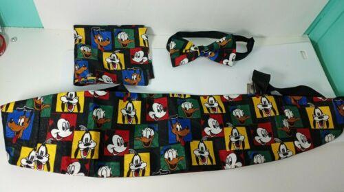 Balancine Inc Disney Mickey Mouse Bow Tie Cummerbund Pocket Square Goofy Suit