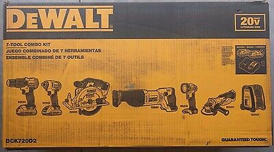 Dewalt DCK720D2 7 Tool 20V MAX Lithium Ion Cordless Combo Kit - BRAND NEW !!!!!!
