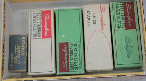 Lot of 5 Vintage Staples - Swingline SF-35 & Presto Staples