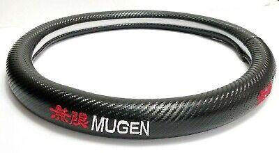 Brand New MUGEN Carbon Fiber Steering Wheel Cover Carbon Fiber Decal 14'' Inches Carbon Fiber Steering Wheel Cover