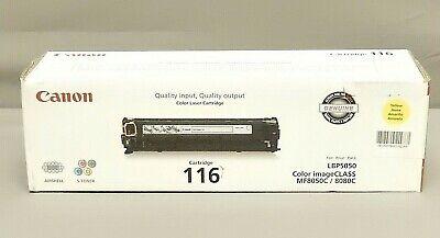 Canon 116 Yellow Toner Cartridge 1977B001AA Genuine New Sealed (1977b001 Toner)