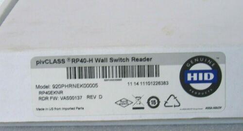 HID RP40-H pivCLASS Wall Switch Reader 920PHRNEK00005 [CTNO]