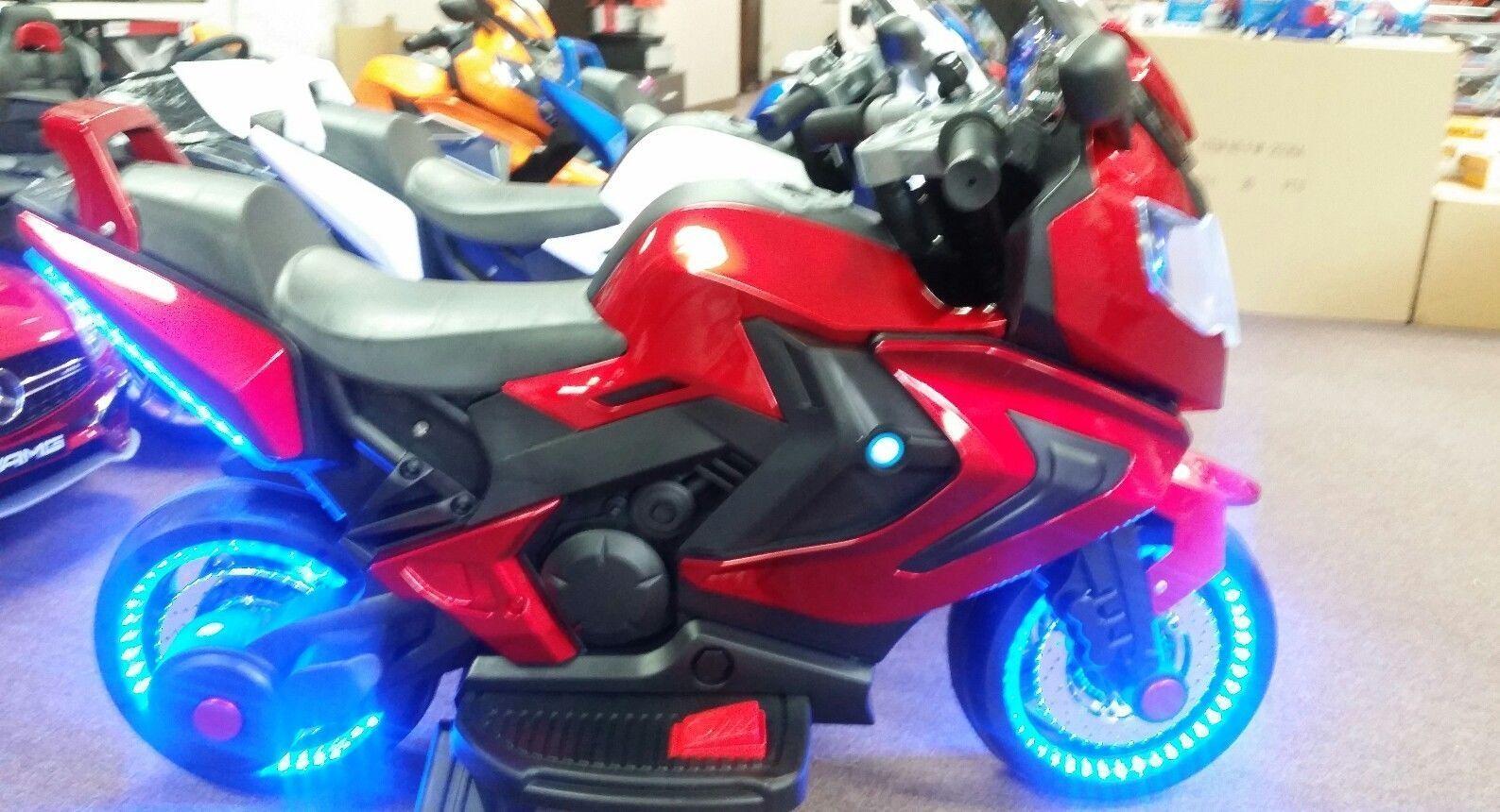 NEW LED 12V MOTOR CYCLE KIDS RIDE ON ELECTRIC SPORTS BIKE GI