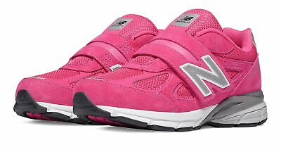 New Balance Kid's 990v4 Hook and Loop Little Kids Female Shoes Pink