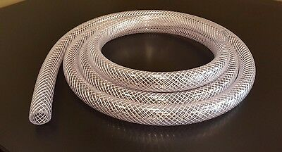 Any Size Clear PVC Reinforced Flexible Braided Vinyl Tube/Hose 3/16