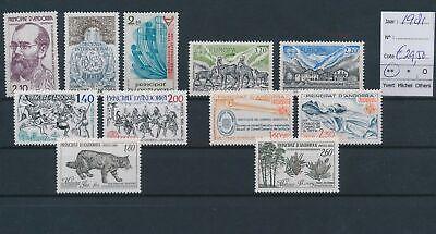 LO17180 Andorra 1981 mixed thematics fine lot MNH cv 29, 5 EUR