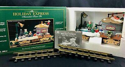 New Bright 1998 Holiday Express Animated Train Set Skating Tanker 380-2 w/ Box