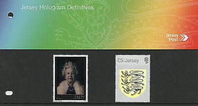 Jersey 2015 MNH Hologram Definitives Diamond Jubilee & Crest 2v Pres Pack Stamps