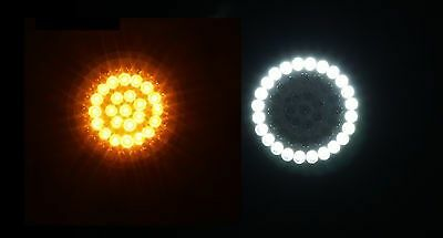 Custom Dynamics LED White/Amber Ringz for Harley 1157 Bullet Style Turn Signals
