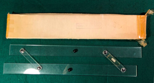 Vintage 15 Inch Acrylic (Plastic Lucite) Clear PARALLEL RULE Made in England